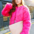 Fashion Coat Jacket Outwear For Women Warm Winter Shaggy Faux Fur Trench Parka