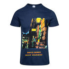 Official T Shirt DAVID BOWIE Navy ZIGGY STARDUST Print Band Tee All Sizes
