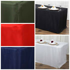 6 feet FITTED Polyester BANQUET Rectangle Tablecloth Wedding Party Table Linens