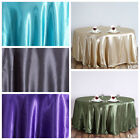 "120"" Round Satin Tablecloth for a Wedding Party Decorations Supplies - 10 Colors"