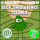 SAFE WAY DECKING CLEANER, SHED AND FENCE CLEANER - WOOD CLEANER - WOOD RESTORER
