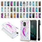"For Motorola Moto G4 Play 5"" XT1607 XT1609 Studded Bling HYBRID Case Cover + Pen"