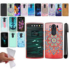 For LG V10 H900 VS990 H901 H968 H961N Design TPU SILICONE Case Phone Cover + Pen