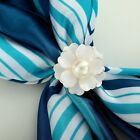 Scarf Jewelry Gold / Silver Pearl Camellia Flower Silk Scarf Ring Holders