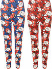 Plus Womens Xmas Christmas Festive Santa Stretch Full Length Ladies Leggings