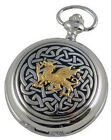 MENS GOLD WELSH DRAGON MECHANICAL POCKET WATCH Quality Wales Gift A E WILLIAMS