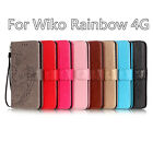 Hot Sales Flower Pattern For Wiko Rainbow 4G Have Bracket PU Leather Phone Cover