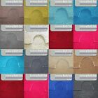 2pc Luxury Memory Foam Shag Pile Bath Mat and Pedestal Set - Non Slip 14 Colours