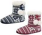 WOMENS SLIPPER BOOTS BOOTIES SLIPPERS KNITTED or FLEECE GIRLS LADIES SIZE uk 3-8