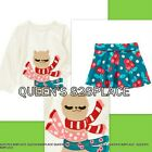 Nwt Crazy 8 girls 3 3T blue red llama top flower skirt outfit 2pc set new