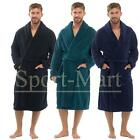 Mens Raiken Super Soft Fleece Calf Length Lounge Dressing Gown Winter Bath Robe