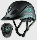 TROXEL HORSE RIDING HELMET TURQUOISE ROSE DURATEC ENGLISH WESTERN LOW PROFILE