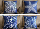 Home Decor Sea Animals Coral Pillow Case Cushion Cover Jellyfish Starfish Cover