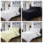 PLAIN DYED DUVET COVER QUILT COVER BEDDING SET & PILLOW CASE WITH FRILLED EDGE