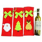 Christmas Decorations Red Santa Tree Wine Bottle Cover Bags Dinner Party Gift