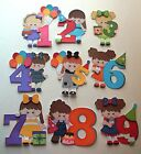 3D-U Pick - BD7 Birthday Boy Girl 1 2 3 4 5 6 7 8 9 Scrapbook Card Embellishment