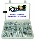 SPECBOLT CUSTOMIZED M6 REDUCED HEAD FLANGE BOLT KIT MOTORCYCLE ATV SERVICE DEPT