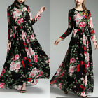 Women's Boho Chiffon Long Maxi Evening Party Cocktail Prom Floral Beach Dress