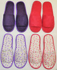 Anti Slip Womens Ladies Slippers Rubber Indoor Soft Home Bath Warm Solid Floral