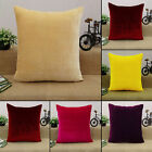 Indian Pillow Case Solid Pattern Plum HomeDecor Throw Cushion Velvet Cover