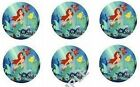 Little Mermaid Edible Party Image Cupcake Topper Frosting Icing Sheet Circles