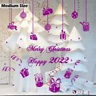 Merry Christmas Happy 2018 Gift Waterproof Vinyl Sticker Wall Shop Window Decor