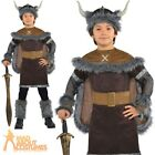 Boys Viking Warrior Costume + Helmet Hat Child Saxon Fancy Dress Kids Outfit