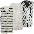 Ladies Faux Fur Sleeveless Gilet Women Waistcoat Jacket Outerwear Coat Size 8-14