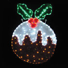 62x83cm Indoor / Outdoor Christmas Pudding Rope Light Decoration Flashing LEDs