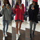 Women's Fashion Loose Casual Long Sleeve Pullover Hoodie Blouse Tops Size S-XL