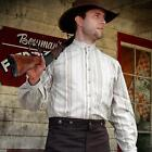 Western Shirt with Standing Collar. Perfect for Re-enactment, Stage or LARP