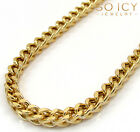 """20-40"""" Inch 2.8mm 10k Yellow Gold Box Franco Hollow Chain Necklace Mens"""