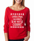 CHRISTMAS CALORIES DO NOT COUNT funny working out gym Women's Raglan T-Shirt