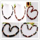 "Assorted Mixed Colors Handmade Coconut Shell Puka Coin Bead Necklace 17""L OPTION"