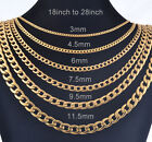18-28'' Real 18K Yellow Gold Plated Elegant Style Necklace Chain Thin Special