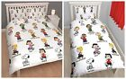 OFFICIAL Peanuts Snoopy Charlie Brown Reversible Duvet Cover Set Single & Double