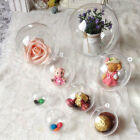 10 Pcs Clear Baubles Plastic Round Ball Heart Christmas Ornament Gift Candy Box