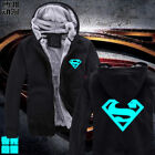 Superman Luminous anime Plus thick velvet Hoodies Jackets Coats Noctilucent