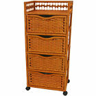 chest of drawers on wheels - Oriental Furniture Natural Fiber Chest of Drawers on Wheels - Four Drawer