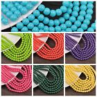 4mm Pure Colour Crystal Round Glass Loose Spacer Beads Jewelry Findings