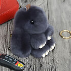 Lovely Rex Rabbit Fur Pom Doll Phone Car Pendant Handbag Key Chain Accessories