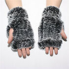 Women Real Farm Mink Fur Fingerless Knitted New Selling Elastic Gloves Mittens
