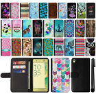 For Sony Xperia XA F3111 F3115 F3116 Design Wallet Card POUCH Case Cover + Pen