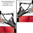 Leather Sword Belt with Elaborate Frog for Stage Costume Re-enactment or LARP