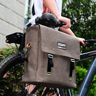 New Cycling Bike Bicycle Rear Rack Bag 14L Waterproof Retro Shoulder Handbag