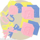 Creative Memories Paper Die Cut BABY BLOCKS A 1 BOW RATTLE Choice of Colour