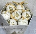 cream christmas baubles
