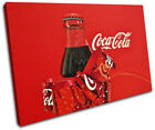 Vintage Coca Cola  Xmas Gift Food Kitchen SINGLE CANVAS WALL ART Picture Print £15.99  on eBay
