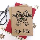 6/10 Luxury personalised kraft christmas cards GIN GLE BELLS GIN LOVER envelopes