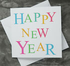 --- 6 Pack - Happy New Year Cards  -- Bright Text ---